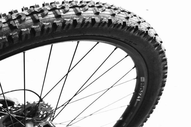 are you fo' wheel??? 🤔 Blackandwhite Background Knobby Mountainbike MTB Bicycle Bike Tire Wheel Transportation Close-up No People Spoke Day Outdoors White Background