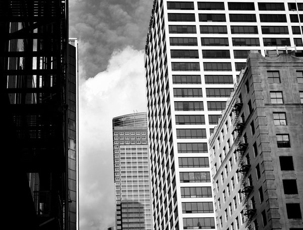 Black And White Blackandwhite Photography Architecture Clouds And Sky Losangeles Los Angeles, California Los Angeles Skyline Los Angeles Architecture DowntownLA Downtown Los Angeles Architecture_collection Architectural Photography Grand Avenue