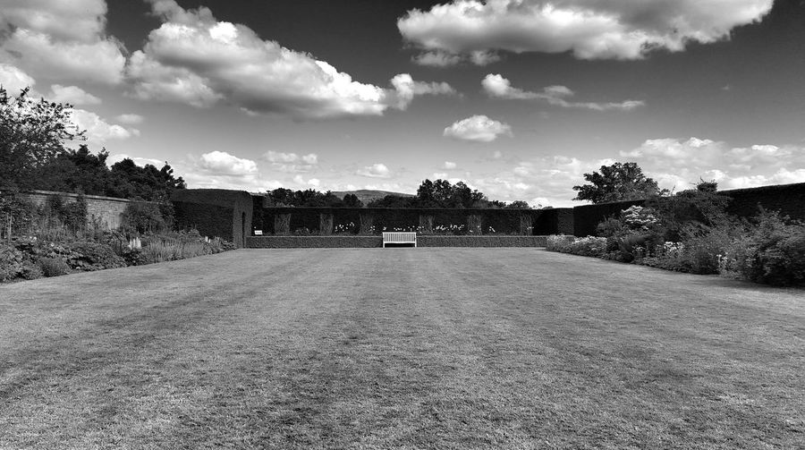 Wales Garden Blackandwhite Nationaltrust Powiscastle Sky Cloud Deminishing Perspective Nature Empty Scenics Day Beauty In Nature Vanishing Point Grass Outdoors Non-urban Scene No People Welcome To Black The Secret Spaces TCPM