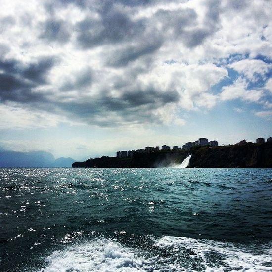 Antalya Lara Heaven Dolphins Sea Falez Waterfalls Clouds Rocks Boat Tour Likeforlike Like4like Likealways Follow Onmyway
