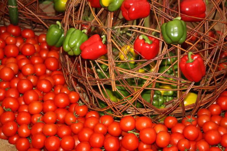 Abundance Basket Close-up Container Food Food And Drink Freshness Fruit Healthy Eating Large Group Of Objects No People Organic Plant Red Ripe Still Life Tomato Vegetable Vibrant Color Wellbeing