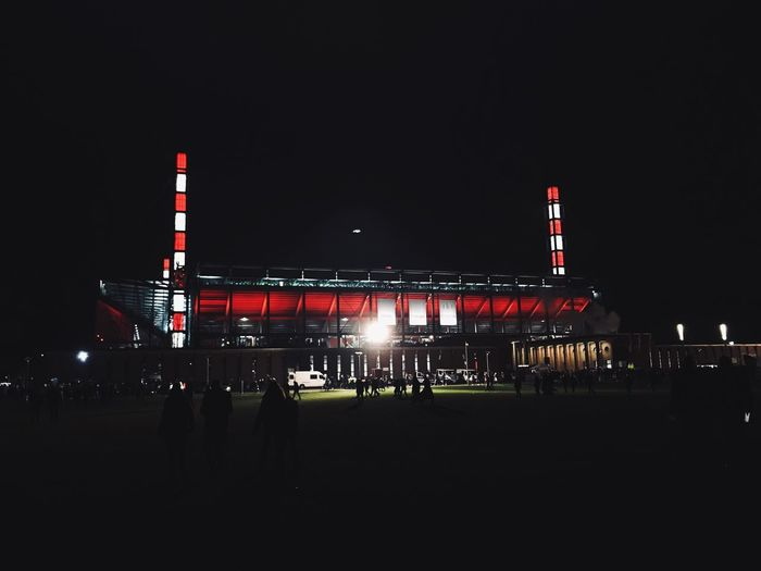 🔴⚪️ Returnofthegoat Goat Comeonfc Love Home Excited Tensed Composition IPhoneography Bundesliga Sport Architecture Night Cologne Koeln Effzeh Stadium Football First Eyeem Photo