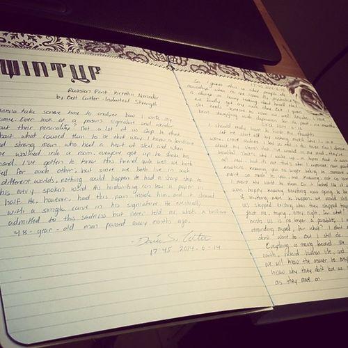 I've never been more proud of my handwriting haha. Journalentry Journal Handwriting  Kremlinalexanderfont