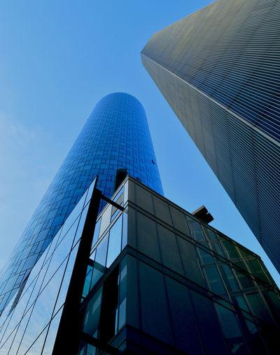 Architecture Blue City City Skyline Color Frankfurt Am Main Modern RePicture Growth