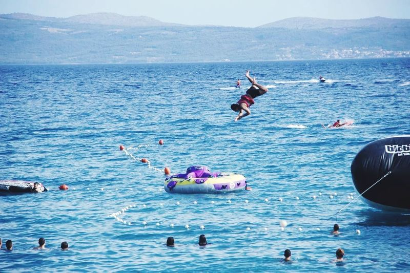Water Sea Nature Relax Mediterranean  Croatia Croatia🇵🇾 People Day Beauty In Nature Nature Adult Jump In The Water  DAREDEVILS Seaview Sea