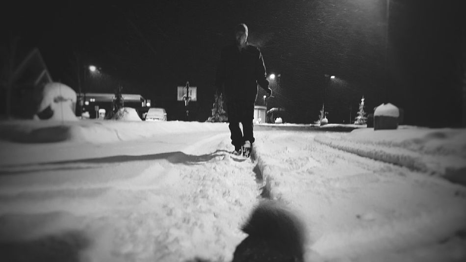 Keeping up.. Cold Temperature Only Men Snow Winter Real People Adults Only One Man Only Men One Person People Full Length Adult Snowing Outdoors Night Snow Latenightadventures Latenightwalks The Portraitist - 2017 EyeEm Awards Live For The Story