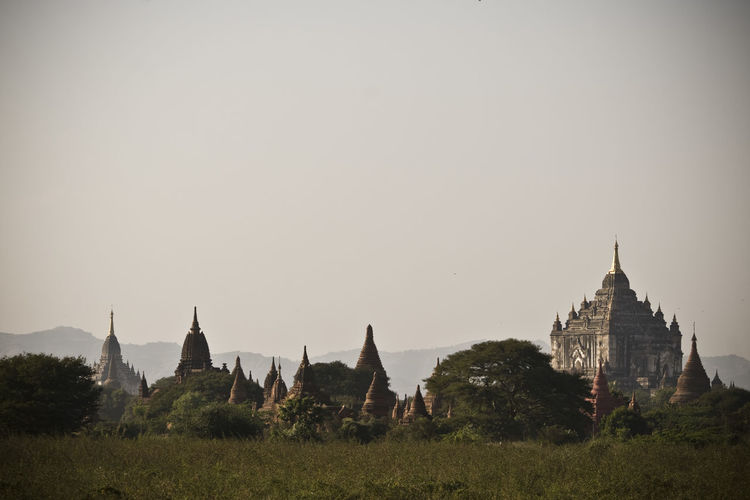 the valley of bagan Ancient Architecture Bagan Built Structure Cultures Day Famous Place First Eyeem Photo Grass History Landscape Myanmar Nature No People Outdoors Place Of Worship Religion Sky Spirituality Temple Temple - Building The Past Tourism Tranquility Travel Destinations