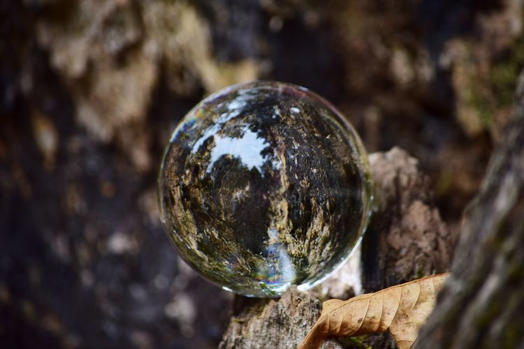 Extreme close up of crystal ball