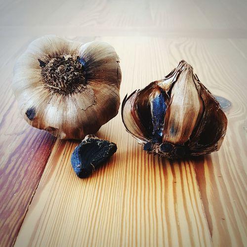 Black Garlic Garlic Bulb Garlic Black Garlic Ajo Healthy Eating Food Organic Food Table Close-up