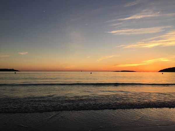 Sea Sunset Beach Scenics Beauty In Nature Tranquility Water