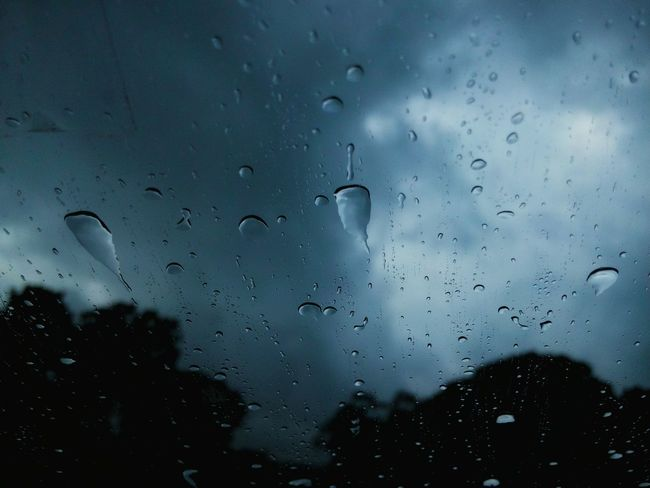 Water drops on windshield. Waterdrops Drop Transparent Cloud - Sky Rain Wet Close-up Windshield Shots