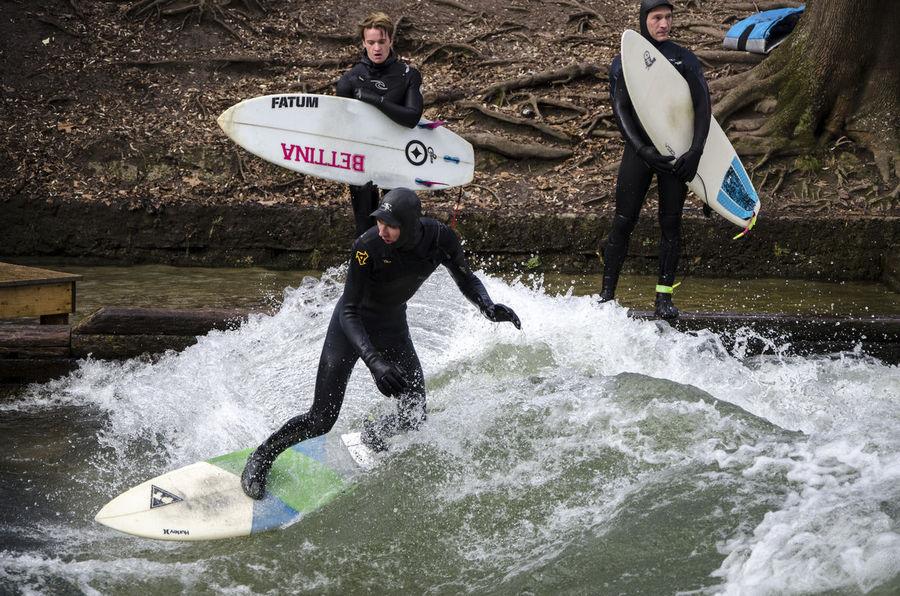 City surfers Adventure Athlete Challenge CitySurfer Munich Sport Surf Surfing Wetsuit