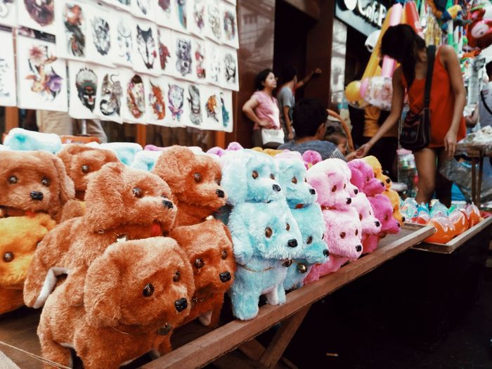 Retail  For Sale Large Group Of Objects Stuffed Toy Choice Variation Market Store Market Stall Mobilephotography Streetphotography Eyeem Philippines Chinesenewyears