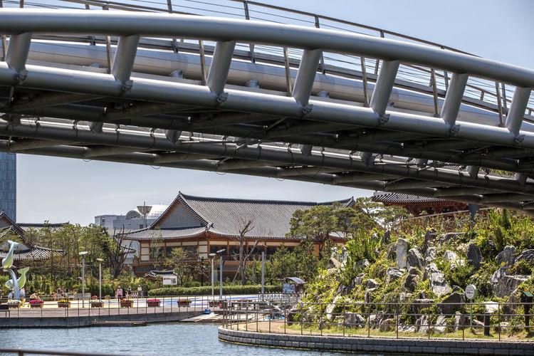 Bridge Over River At Park