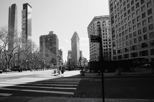 Architecture New York City B&w Street Photography Flat Iron Building