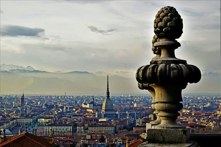 Architecture Cityscape City Sky Cloud - Sky Dome Outdoors Night No People Beauty Sculpture Building Exterior Italy Day Skyscraper Italy🇮🇹 Turin (Italy) Turin Scenics EyeEmNewHere Cityscape Architecture City Statue Landscape