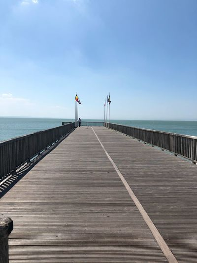 Sea Sky Sea Water Pier Horizon Over Water Beauty In Nature Horizon