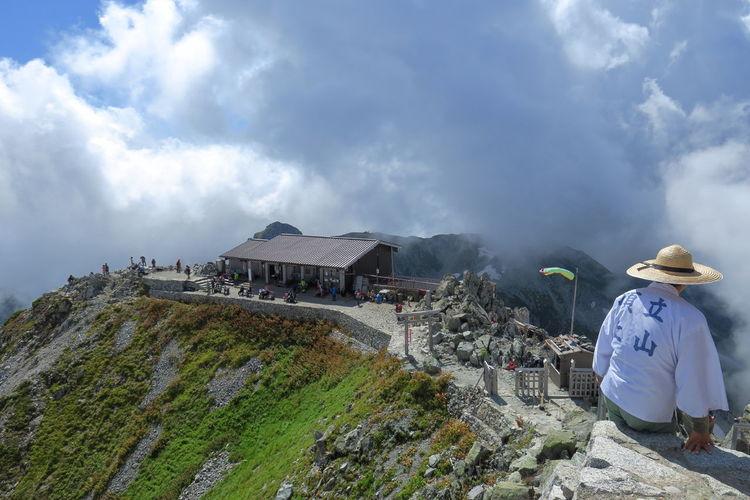 雄山山頂 Japanese Shrine Mountain Hut Landscape Mountain Peak Cloud - Sky Outdoors People Mountain Japanese Traditional From My Point Of View EyeEm Best Shots 雄山神社 Go Higher