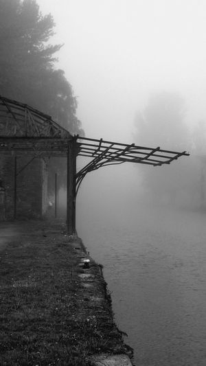Abandoned Buildings Athy Ireland Black & White Dawn Of A New Day Eye4photography  EyeEm Best Shots EyeEm Gallery Hello World ✌ Ireland Memories Morning Fog My Point Of View Mystery Old Building Exterior Outdoors River Showcase May Silence Taking Photos Touch Of Silence