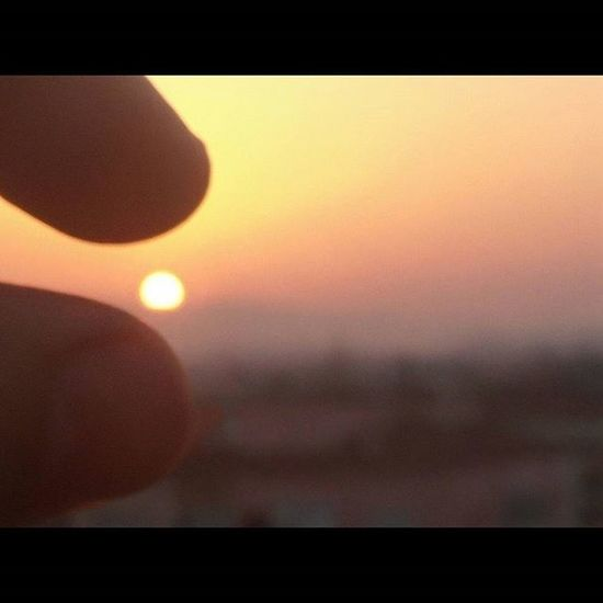Sunset Sky Sun Efforts To  Keep  Thesun