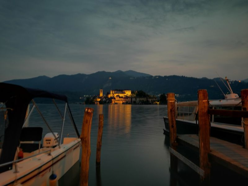 EyeEm Selects Island Orta S.Giulio Lake Night Landscape Orta Lake Italy