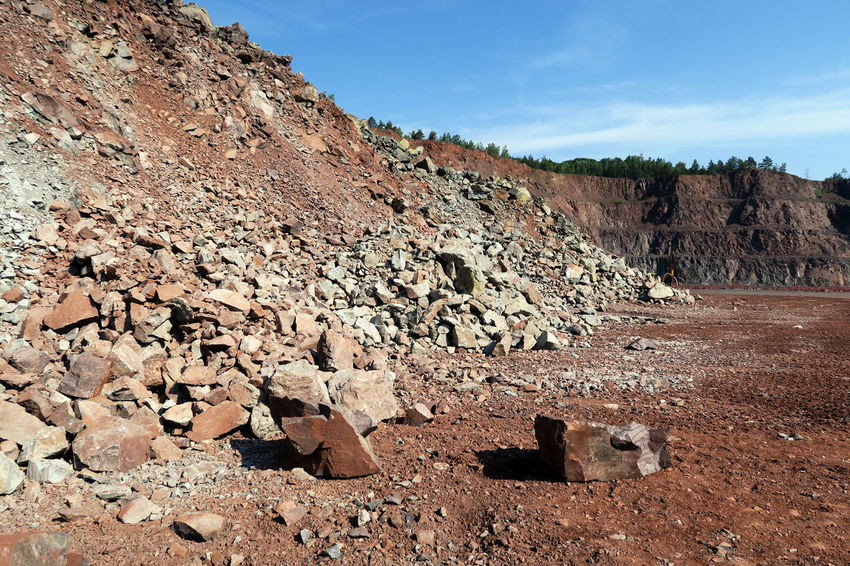 view into a quarry. porphyry rock. Mining Industry Quarry Open Pit Mine Mining Heritage Mine Mining Surface Mine Mountain Outdoors Quarry Rock Open Pit Mining Surface Mining