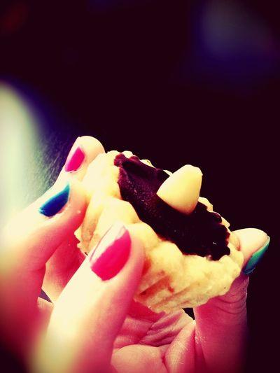 Holiday Desserts Cupcake Almond Chocolate Nails