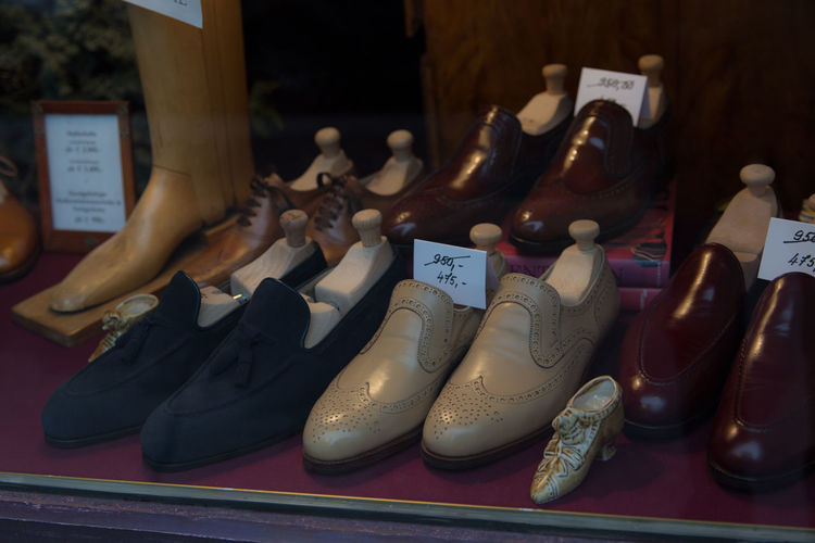 Choice Close-up Day Fashion For Sale Indoors  No People Pair Retail  Shoe Shoemaker Shoes Store Variation