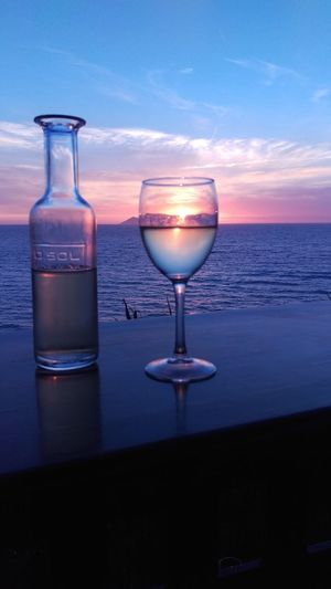No filter needed for this beauty 💙Drinking Glass Beach Sunset Wineglass Horizon Over Water Beauty In Nature Wine Sea No People Corfu,Greece🇬🇷 Corfu, Greece CORFU ISLAND Seventh Heaven Beautiful Nature Sunset_collection Sunset_madness Sunrise_sunsets_aroundworld Rennyphotos