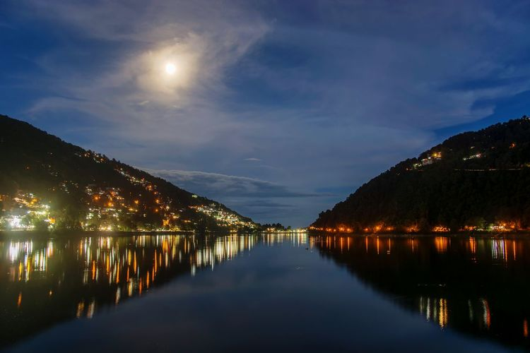 the shinning moon Moon Moonlight Lake Mountain Reflection Night Nightphotography Nightlife Nainital Nature EyeEm Selects Himalayas ASIA India Photography Sunset #sun #clouds #skylovers #sky #nature #beautifulinnature #naturalbeauty #photography #landscape Clouds Travel Destinations EyeEm Nature Lover EyeEm Best Shots EyeEm Eye4photography  Astronomy Water Illuminated Lake Reflection Galaxy Sky Landscape My Best Photo