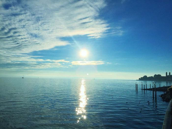 Horizon Over Water Water Sky Autumn Lake Of Constance Germany The Places I've Been Today Taking Photos
