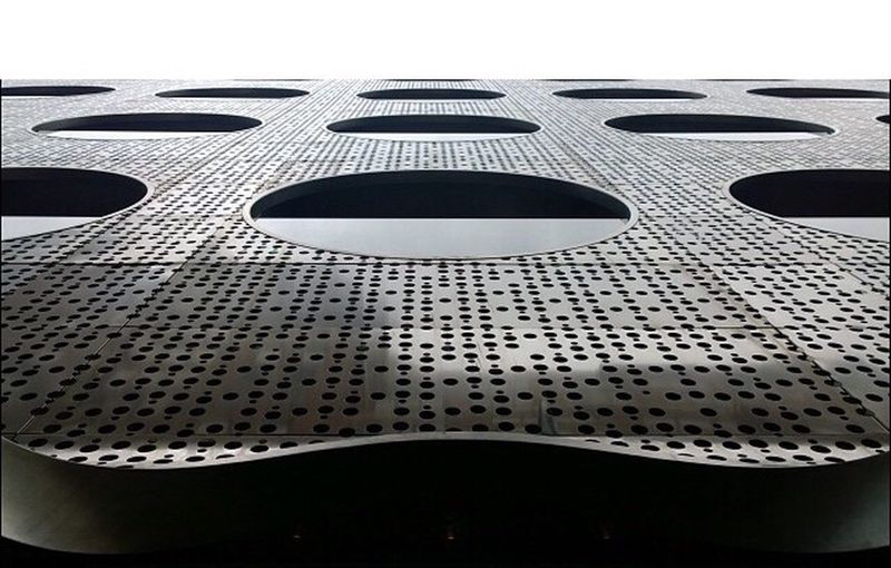 Close up of modern building