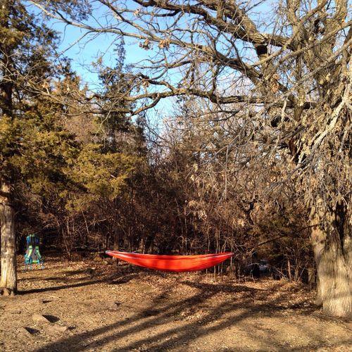 Camping Hammock Enjoying Nature