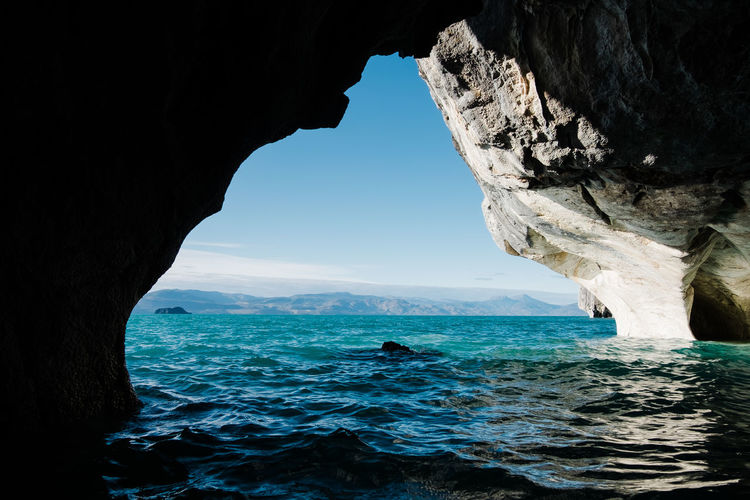 Marble caves of puerto rio tranquilo in chile