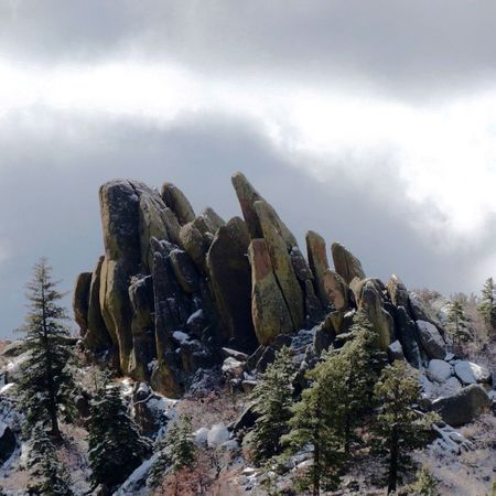 The Great Outdoors With Adobe Big Rocks Cloudy Light Snow