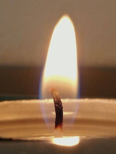 Heat - Temperature Burning Flame Close-up Focus On Foreground Wine Moments Burning Flame Candle Wick Transparent Flame