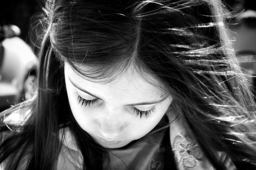 Real People One Person Long Hair Headshot Front View Close-up Focus On Foreground Childhood Young Adult Love Portrait EyeEm Gallery Black & White Bw_lover Bw_collection Black And White Blackandwhite Canon Getting Inspired Eye4photography  EyeEm Blackandwhite Photography BW_photography