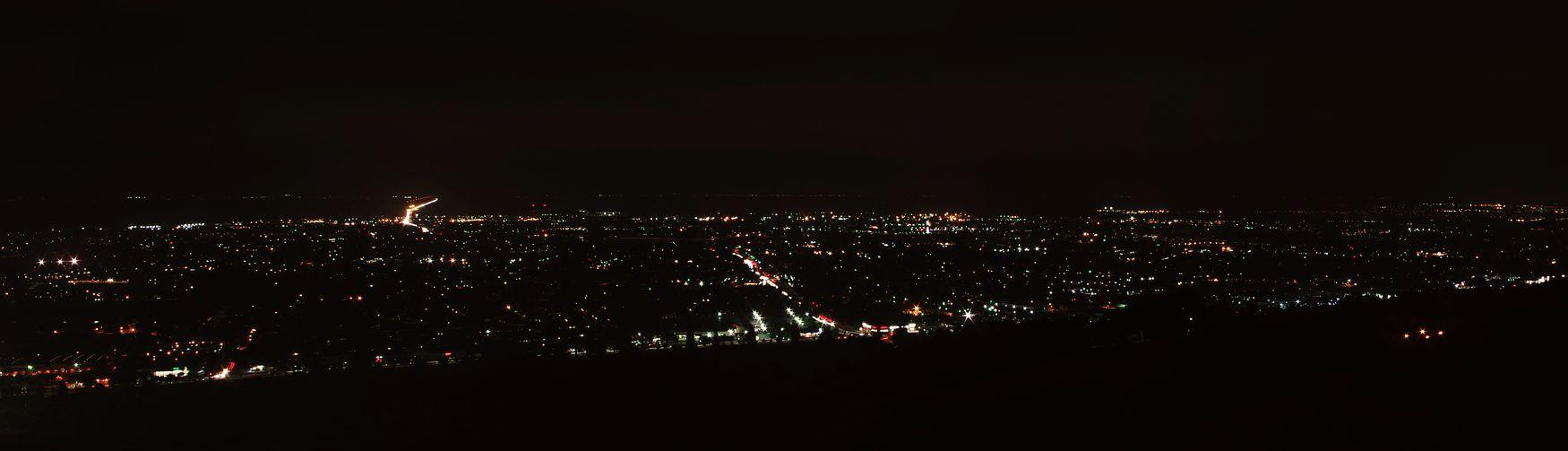 Panorama Hayward Nightphotography City Lights Bay Area California
