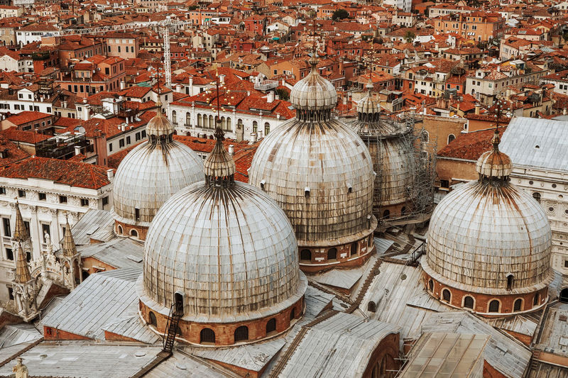 Earthy Tone Venice, Italy Architecture Brown Color Built Structure City Cityscape High Angle View Monochrome Old Buildings Old City Orange Color Roof Venice