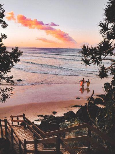 Cool sunset in Coolangatta Nature_collection Eyem Eyem Gallery EyeEmNewHere Sunsetlover Sunset_collection Coolangatta Sky Beach Sunset Water Real People Land EyeEmNewHere