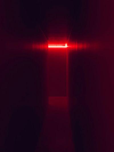 Enviroment Milano Milan Bicocca Hangar Bicocca Hangar Lucio Fontana Indoors  Dark Red Illuminated No People Day