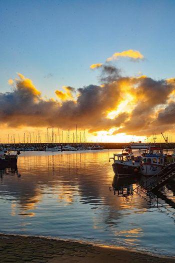 Reflection Nautical Vessel Sea Sky Cloud - Sky Outdoors Vacations Travel Destinations Nature Landscape Scarborough Scarborough Harbour