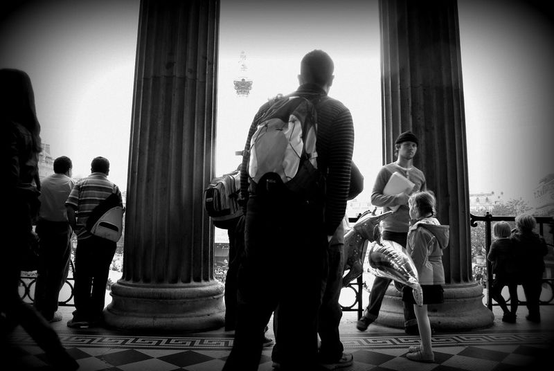 National Gallery Of Art Adult Architectural Column Arts Culture And Entertainment Day Indoors  Large Group Of People Men Music Musical Instrument Musician People Performance Playing Real People Standing Women