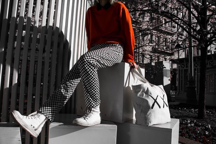 Standing One Person Sunlight Real People Outdoors Day Men Sitting Building Exterior Architecture Young Adult People RickOwens Rick Owens Acne Studios Fashion Fashion Photography