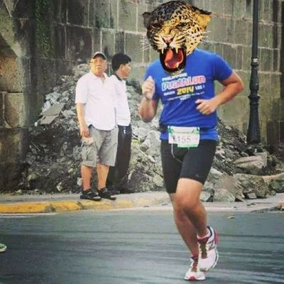 Run like a cheetah. ?? Animalface Runner Pinoyfitness Multisport training running takboph