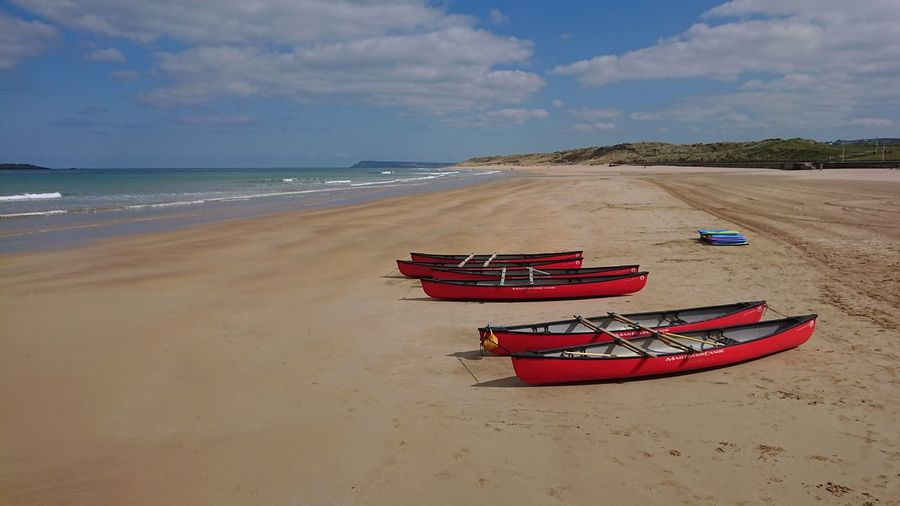 Beach Sand Blue Sky Beauty In Ordinary Things Beauty In Nature Northern Ireland Love Outdoors Sand Dune Water Sea Beach Nautical Vessel Red Sand Blue Wave Sky Seascape Tide Surf