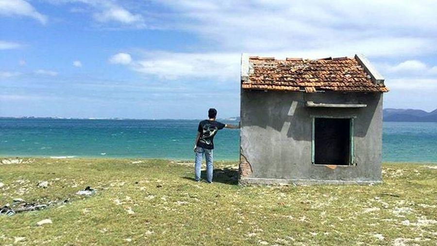 Diepsonisland Sea House Sky Blu Boy Nature Vietnam NhaTrang Instapic Vscocam ... =))) đảo đẹp ...
