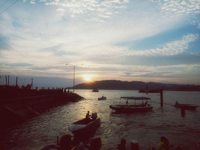 코타키나발루에서 멋있는 석양 Sunset