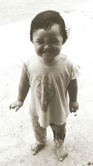 Smile of thailand Cheese! Babygirl Enjoying Life Black & White Happy Time Smile Baby