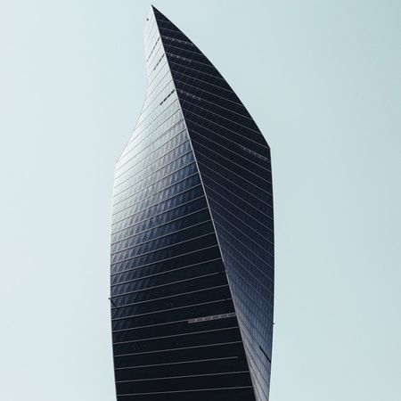 AlTijaria Tower. Architecture Low Angle View Skyscraper Building Exterior Built Structure Tall - High Modern Tower City Clear Sky Office Building Growth Tall Capital Cities  Building Story Place Of Work Sky The Architect - 2017 EyeEm Awards The Architect - 2017 EyeEm Awards